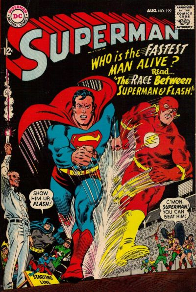 Superman #199 - Race with The Flash
