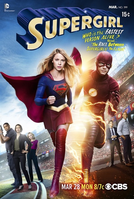 Supergirl / Flash Crossover Poster: Worlds Finest